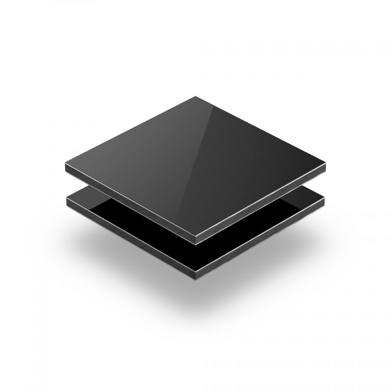 Zwart aluminium sandwichplaat RAL 9005