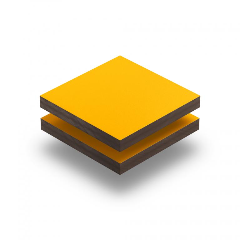 Geel HPL gestructureerd RAL 1003