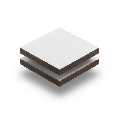 HPL gestructureerd wit RAL 9016