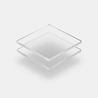 Frost plexiglas helder