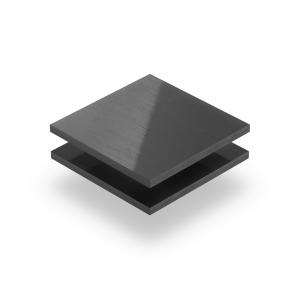 PVC hard donkergrijs plaat