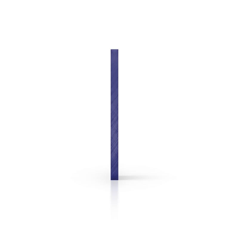 Gespiegeld plexiglas zijkant blauw