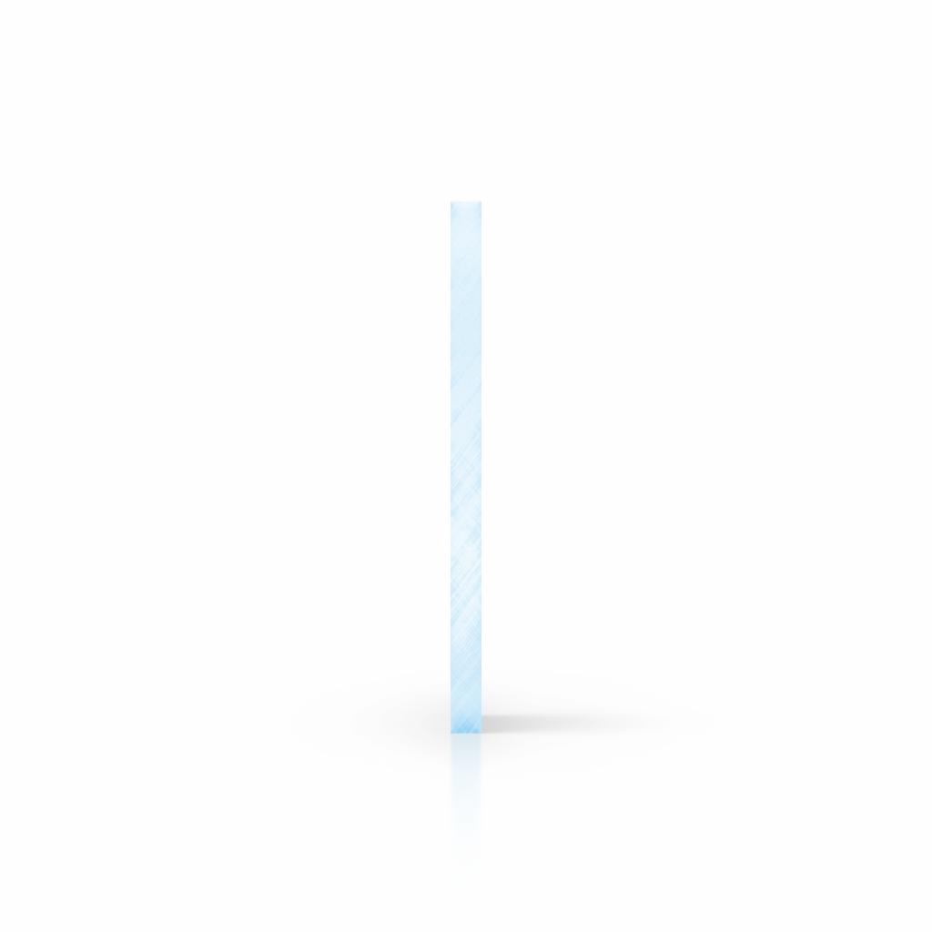 Plexiglas fluor zijkant blauw