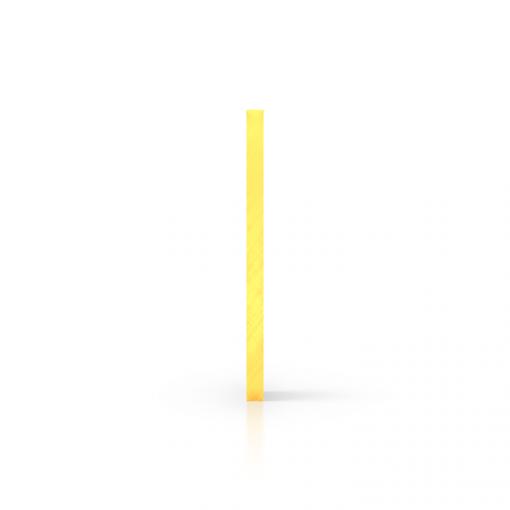 Plexiglas fluor zijkant geel