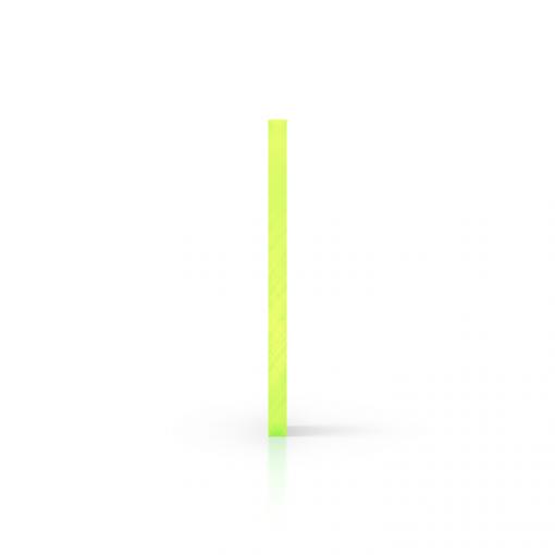 Plexiglas fluor zijkant groen