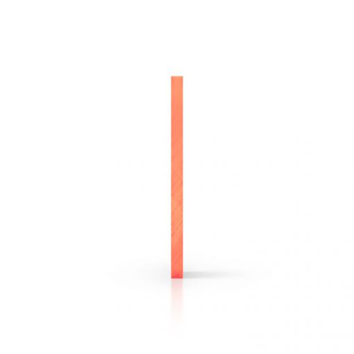 Plexiglas fluor zijkant oranje