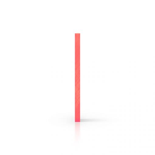 Plexiglas fluor zijkant rood