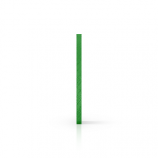 Plexiglas getint zijkant groen