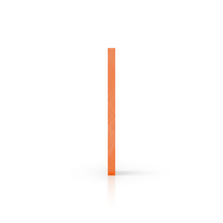 Plexiglas getint zijkant oranje