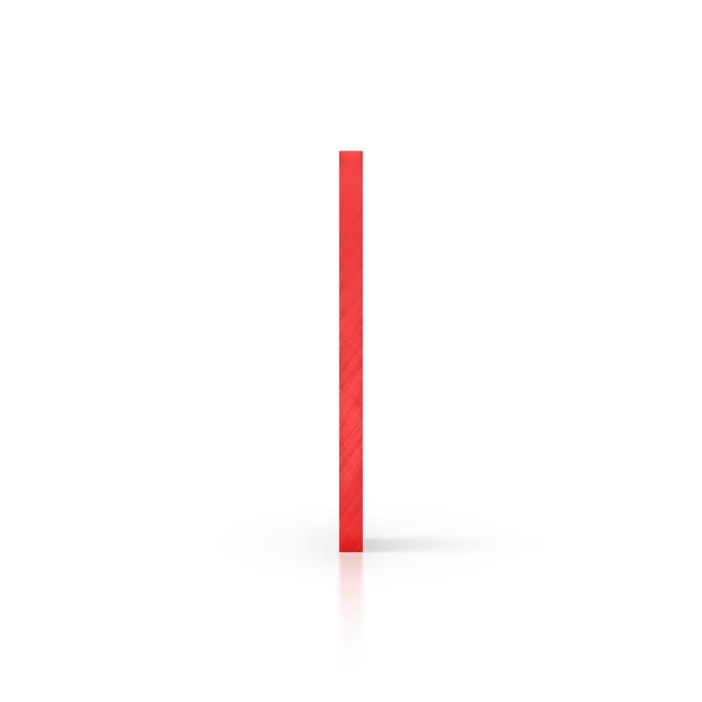 Plexiglas getint zijkant rood