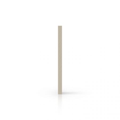 Plexiglas satijn zijkant creme mat