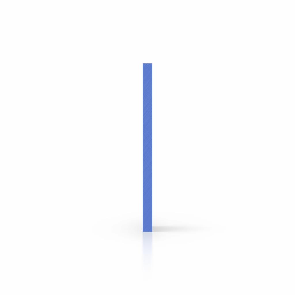 Plexiglas zijkant opaalblauw