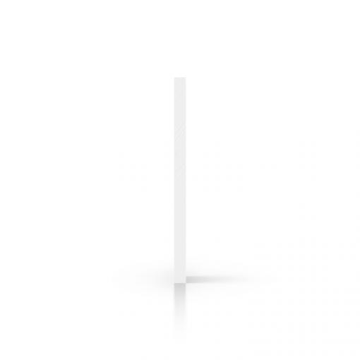 Wit plexiglas zijkant