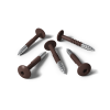 HPL schroeven chocoladebruin RAL8017
