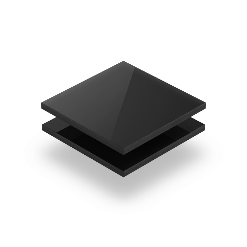 Zwarte plexiglas plaat