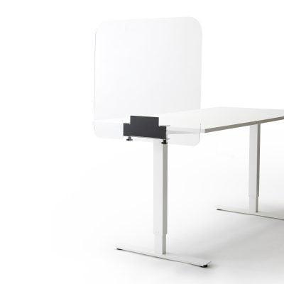 Klein plexiglas scherm bureau of tafel