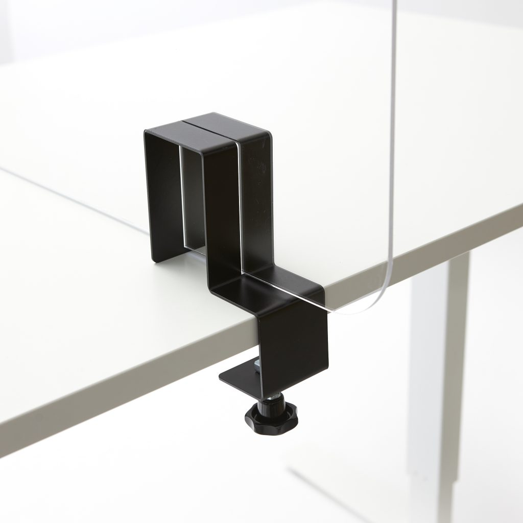 Plexiglas beugel voor over tafel