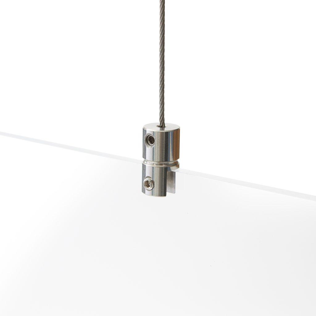 Plexiglas ophangsysteem zonder boren