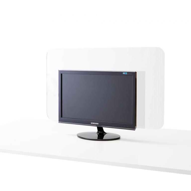 Plexiglas scherm voor achter monitor