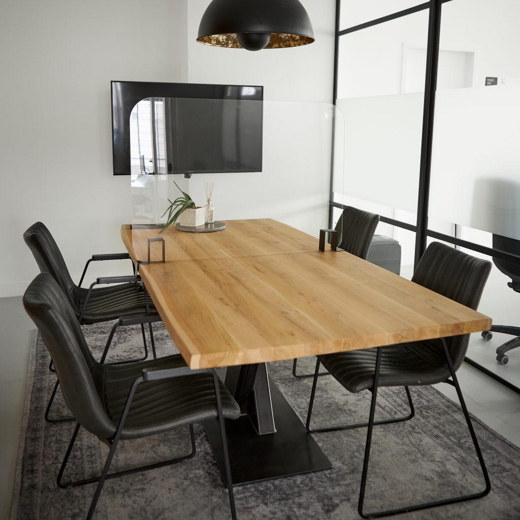 Scherm voor tafelmontage van plexiglas
