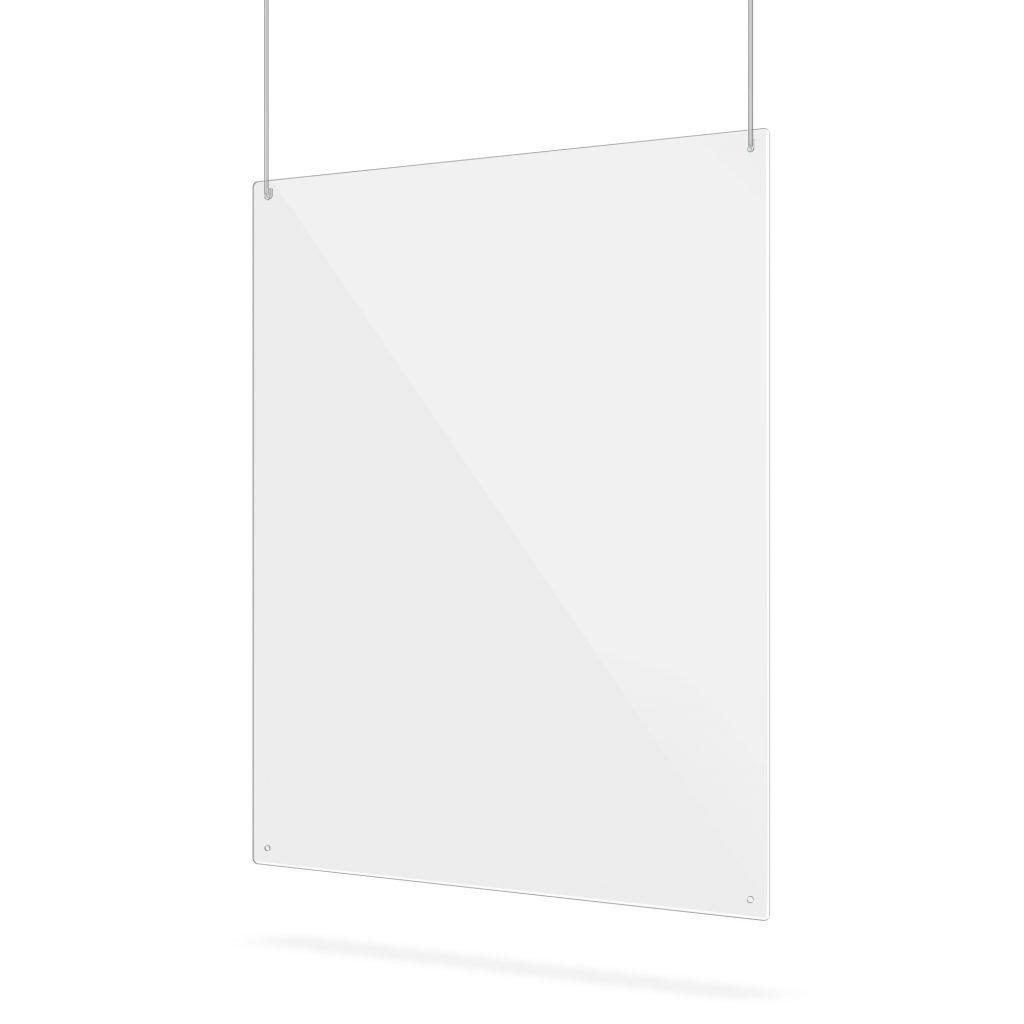 Doorzichtig plexiglas scherm met gaten