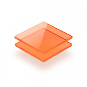 Oranje fluor plexiglas