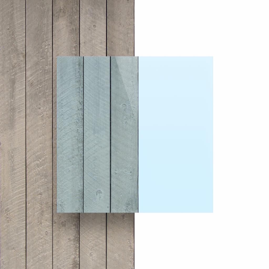Plexiglas voorkant fluor blauw