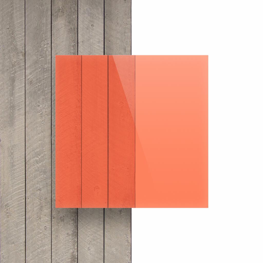 Plexiglas voorkant fluor rood