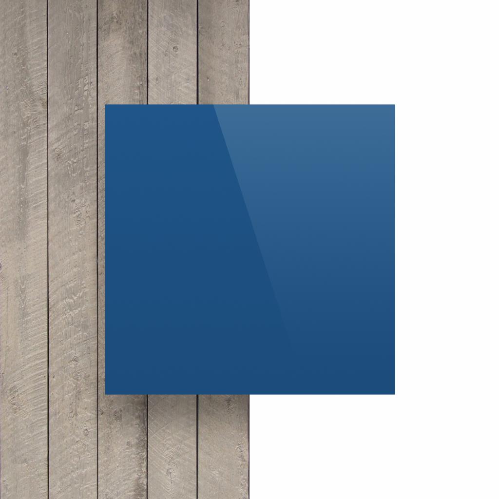 Letterplaat blauw voorkant