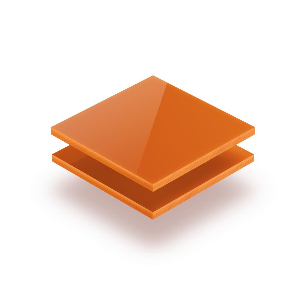 Letterplaat oranje 8mm