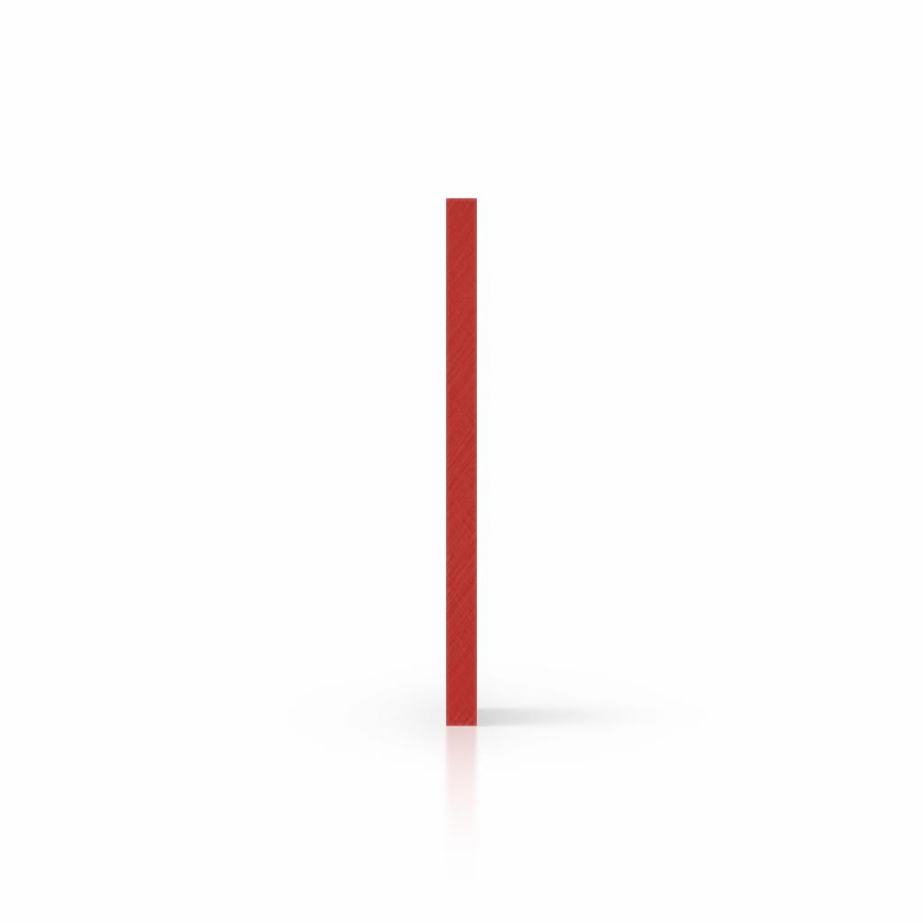 Letterplaat signaalrood zijkant