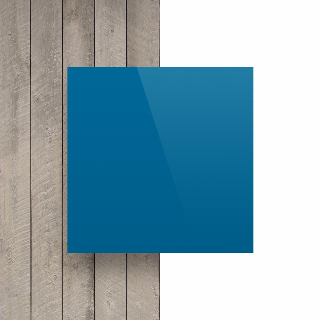 Letterplaat verkeersblauw voorkant