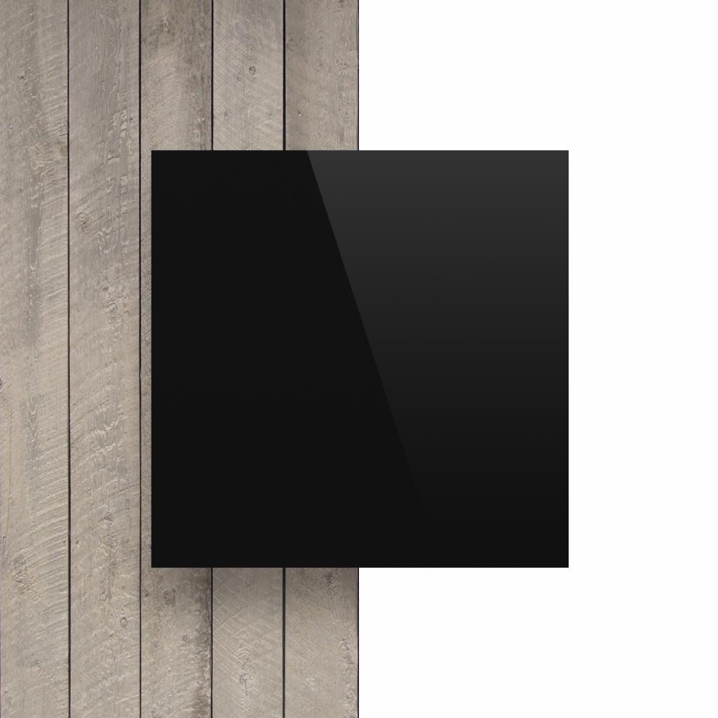 Letterplaat zwart voorkant