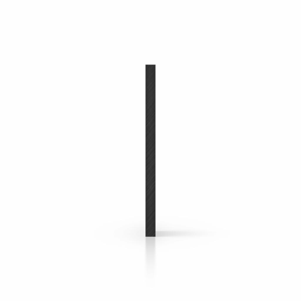 Letterplaat zwart zijkant
