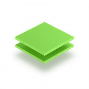 Letterplaat geelgroen GS mat
