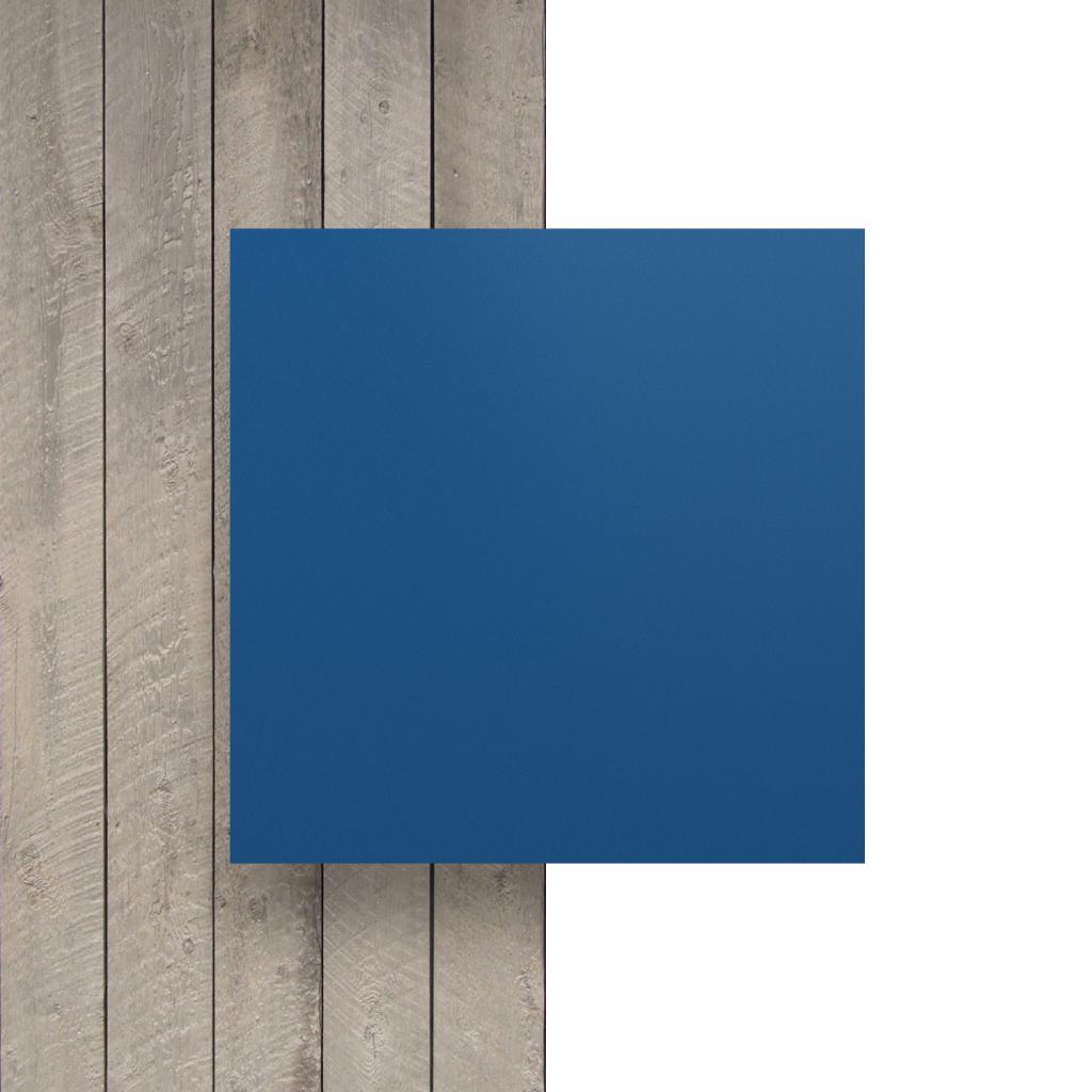 Letterplaat voorkant blauw mat