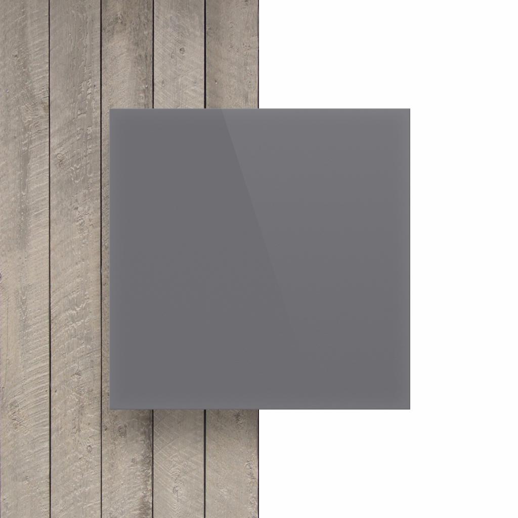 Letterplaat voorkant grijs glans