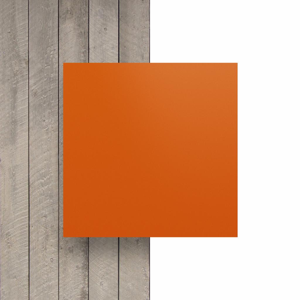 Letterplaat voorkant oranje mat