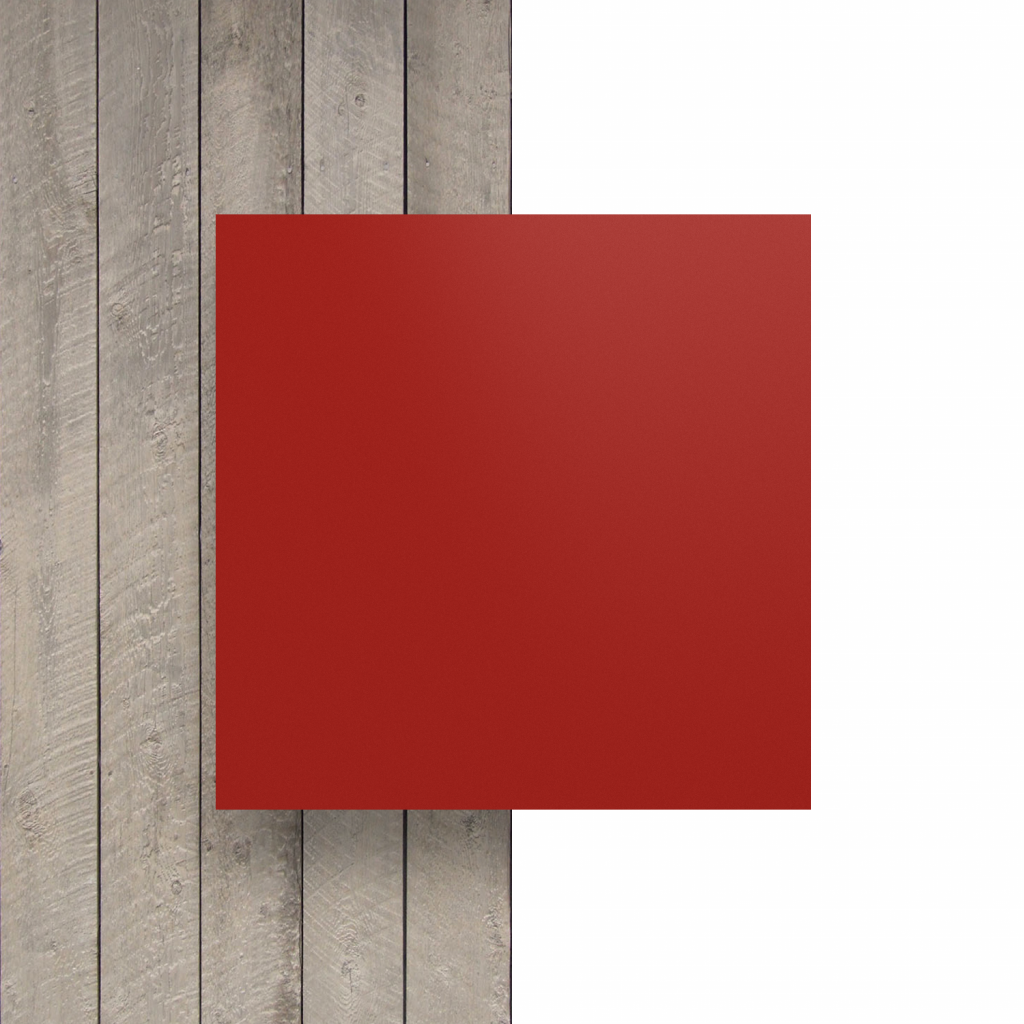 Letterplaat voorkant signaalrood mat