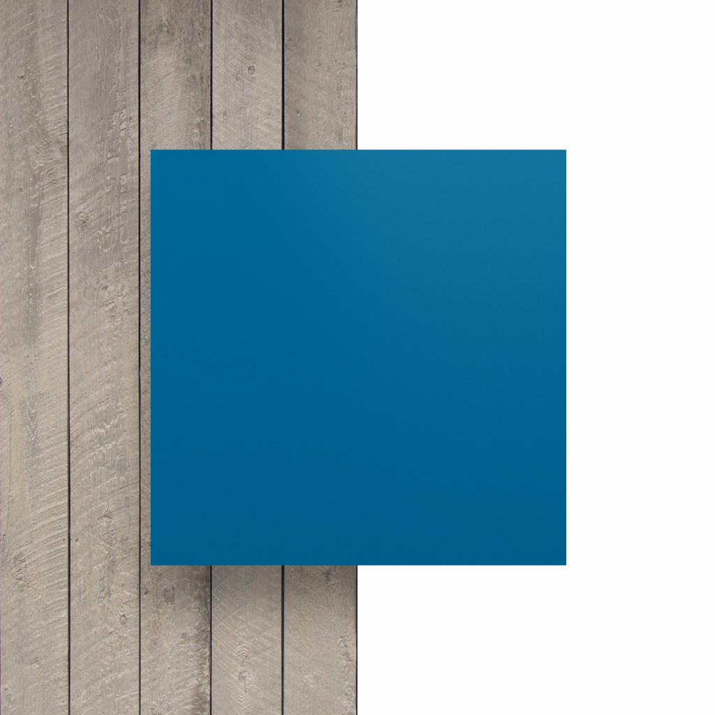 Letterplaat voorkant verkeersblauw mat