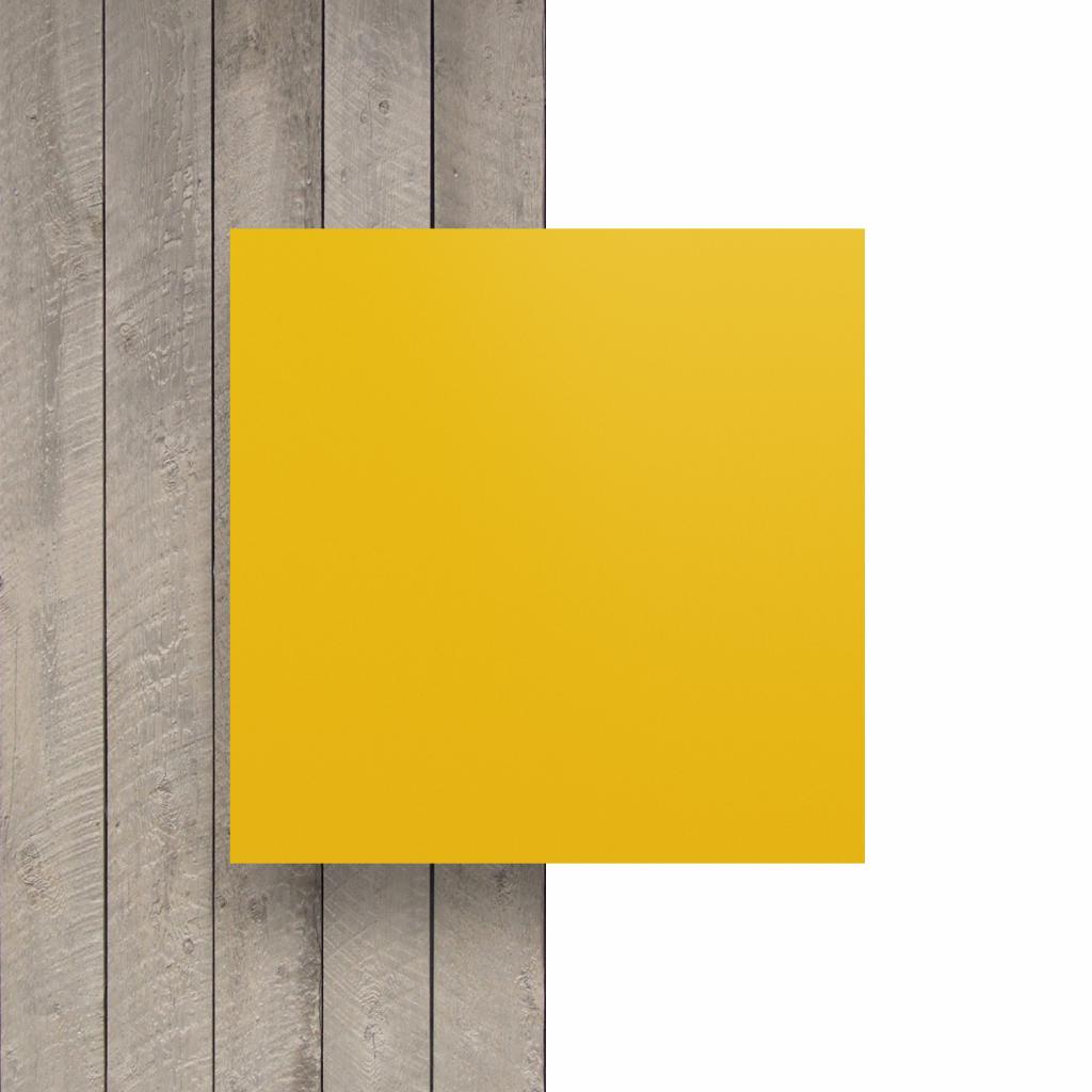 Letterplaat voorkant verkeersgeel mat