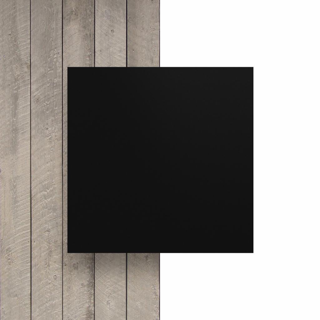 Letterplaat voorkant zwart mat