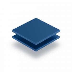 Letterplaat blauw GS mat