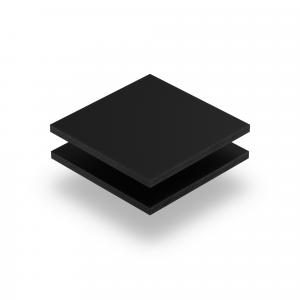 Letterplaat zwart GS mat